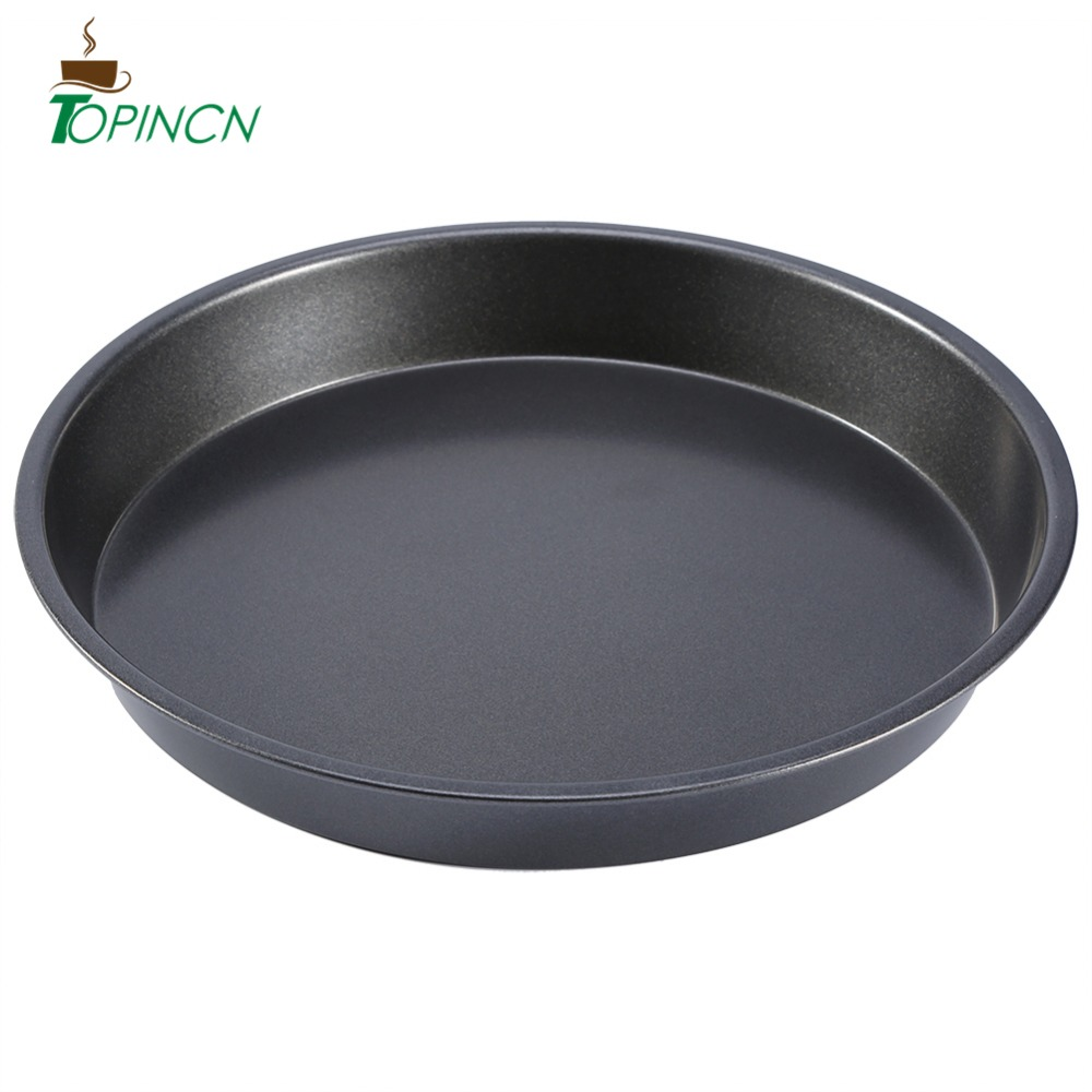 8 inch round pizza plate cake pan carbon steel non stick baking mould microwave oven baking dishes pans pie tray baking pizza pa