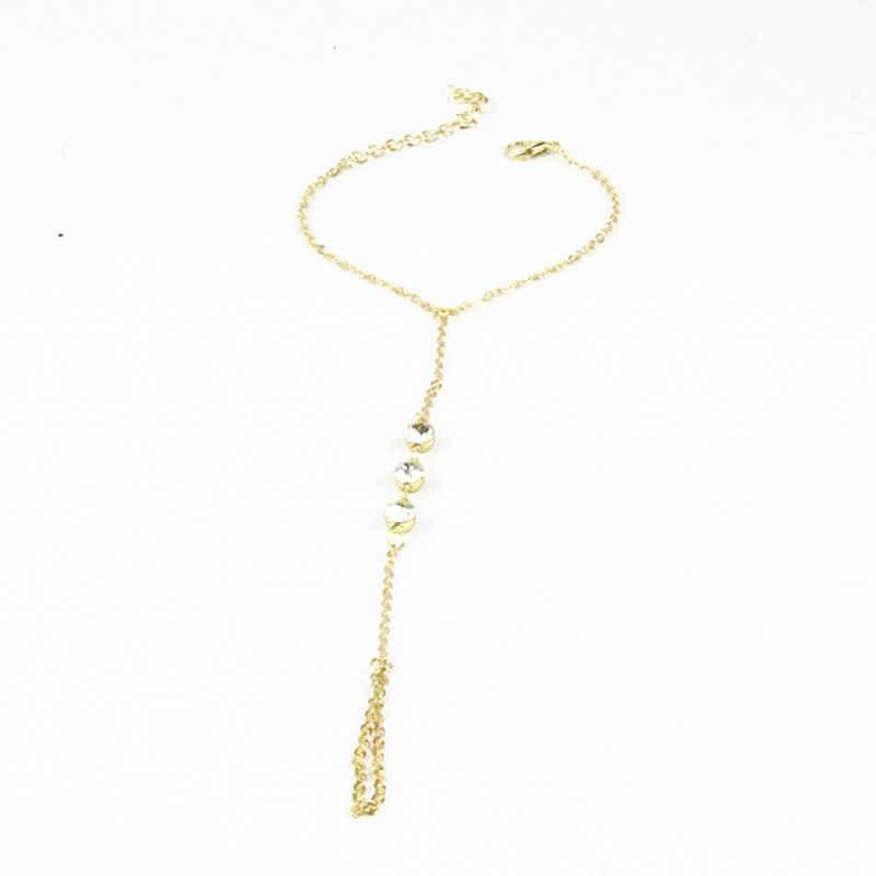 רב צמיד Slave שרשרת קישור לשזור אצבע טבעות יד לרתום צמידי זהב Pulseiras ns18