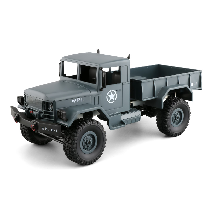 1:16 4WD DIY Off-road RC Military Truck KIT with Head Lighting Remote Control Car Gift for Boy hsp rc car 1 10 electric power remote control car 94601pro 4wd off road short course truck rtr similar redcat himoto racing