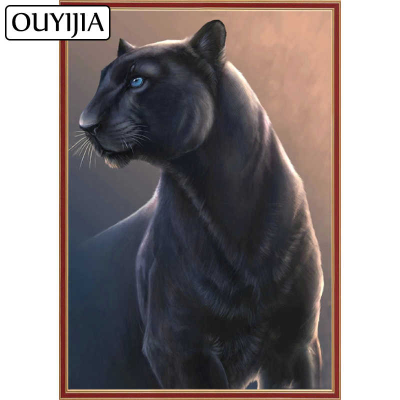 Detail Feedback Questions about OUYIJIA Panther Leopard 5D DIY Home  Decoration Diamond Painting Cheetah Embroidery Animal Diamond Cross Stitch  Rhinestone ... 13f05ed93a38