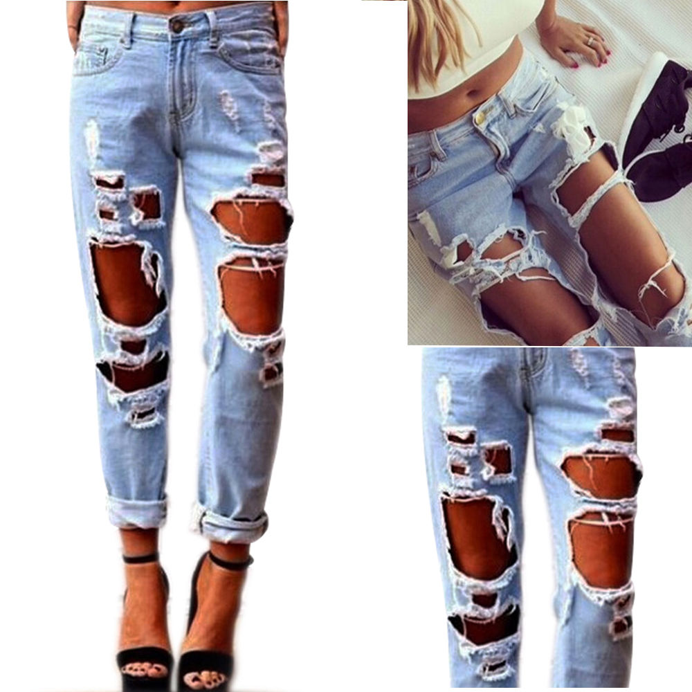 Destroyed Womens Jeans | Bbg Clothing