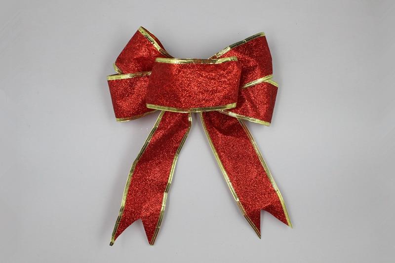 5 Unids / lote 25 cm Grande Brillante Glitter Ribbon Bow Decoración - Para fiestas y celebraciones - foto 4
