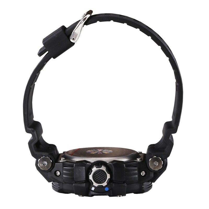 m à Prova Legal Azul Esporte Relógios Grande Dial Led Relógio Digital Choque Resistente 30 Dwaterproof Água Masculinos Montre Homme Giftws1509