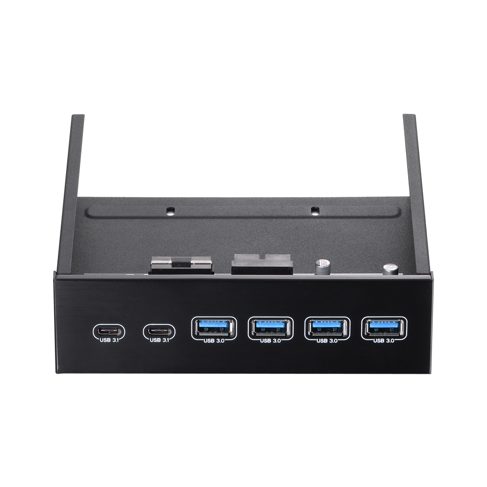 5.25 Front Bay USB HUB 2-Port USB 3.1 4 USB 3.0 High Speed 5Gbps Hub Front Panel Computer Case Optical Drive Bay Converter Hub цена