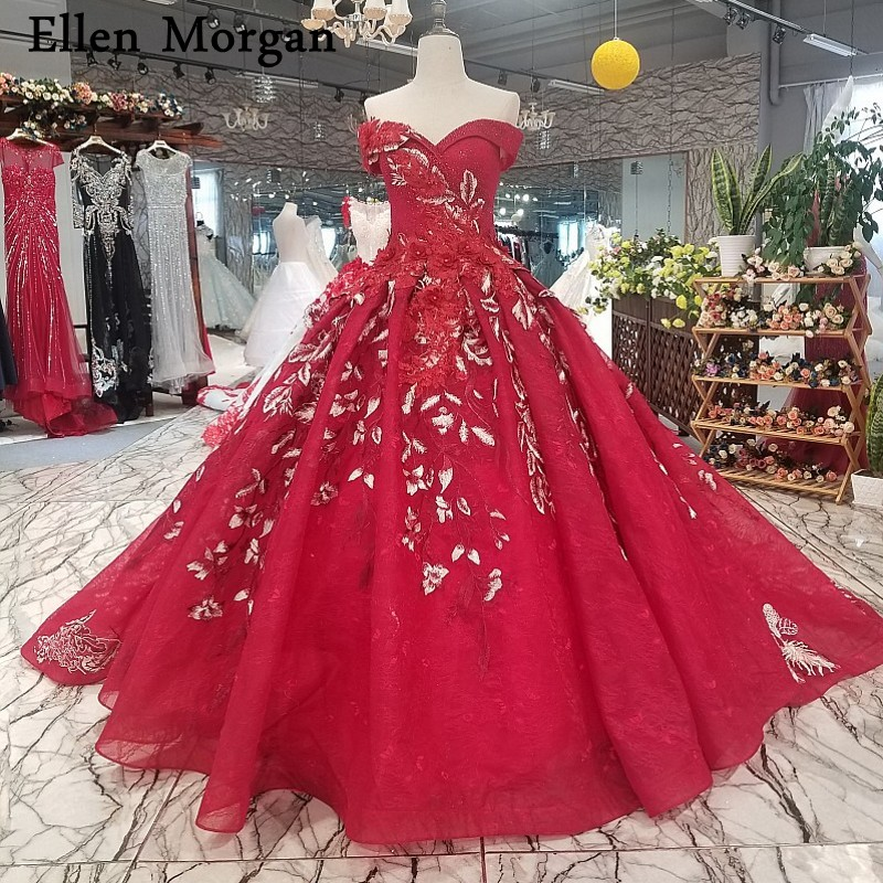 Elegant Embroidery Embellishment Ball Gown Traditional: Elegant Lace Ball Gowns Wedding Dresses 2019 Embroidery