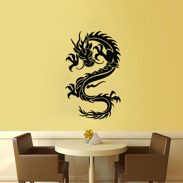 Great Dragon Wall Decals Vinyl Removable Adhesive Stickers For Wall Decoration  Animals Murals Home Decor Living Room