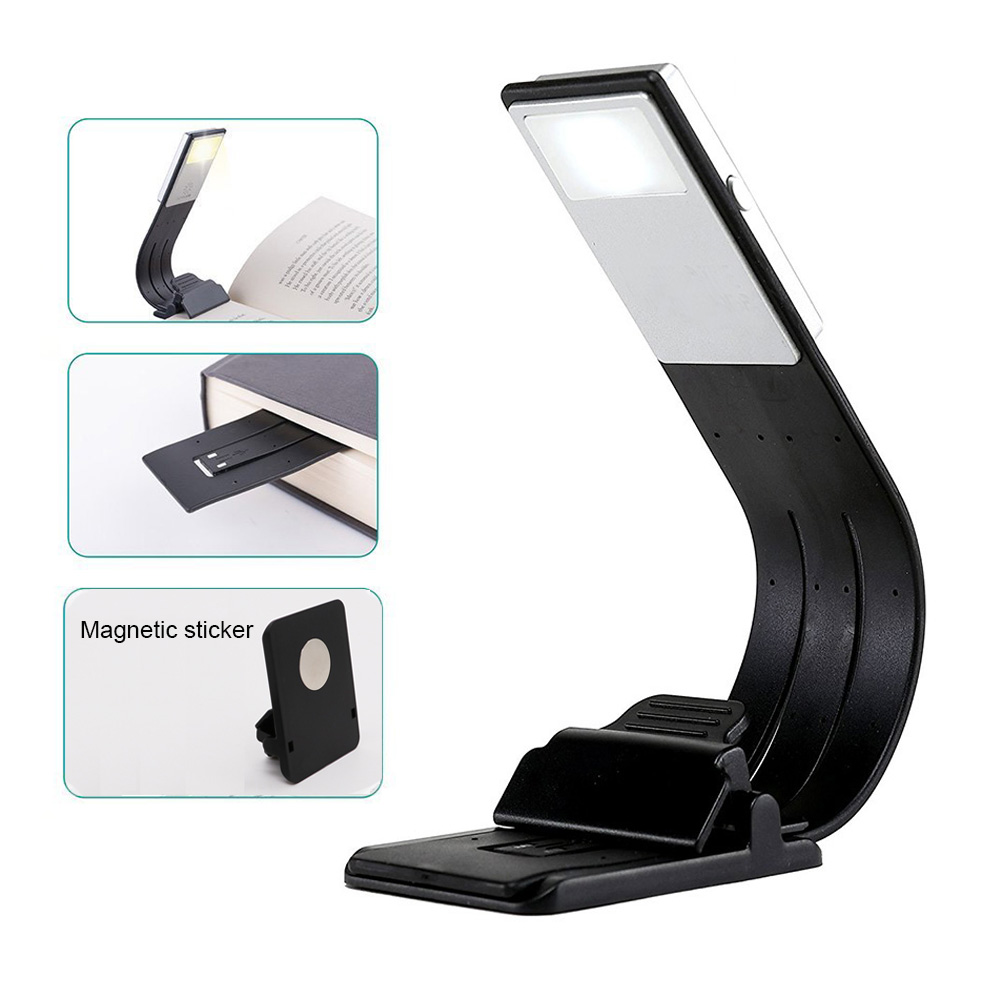 Portable Led Book Light Dimmable Fold Bending Night Lamp
