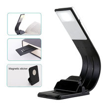 Portable LED Book Light Dimmable Fold Bending Night Lamp Detachable Flexible Clip USB LED Light Rechargeable Reading Lamp(China)