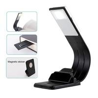 Tragbare LED Buch Licht Dimmbare Falten Biegen Nacht Lampe Abnehmbare Flexible Clip USB LED Licht Wiederaufladbare Lesen Lampe