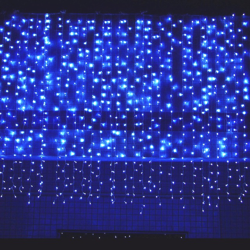 10 * 1m 448 Bulbs Outdoor Garland LED Curtain Fairy Lights Christmas Lights Decoration For Wedding Holiday Party Home Room 3m 120 bulbs led heart curtain string garland lights indoor lighting christmas lights holiday party home room decoration lamps