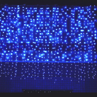 10 * 1m 448 Bulbs Outdoor Garland LED Curtain Fairy Lights Christmas Lights Decoration For Wedding Holiday Party Home Room