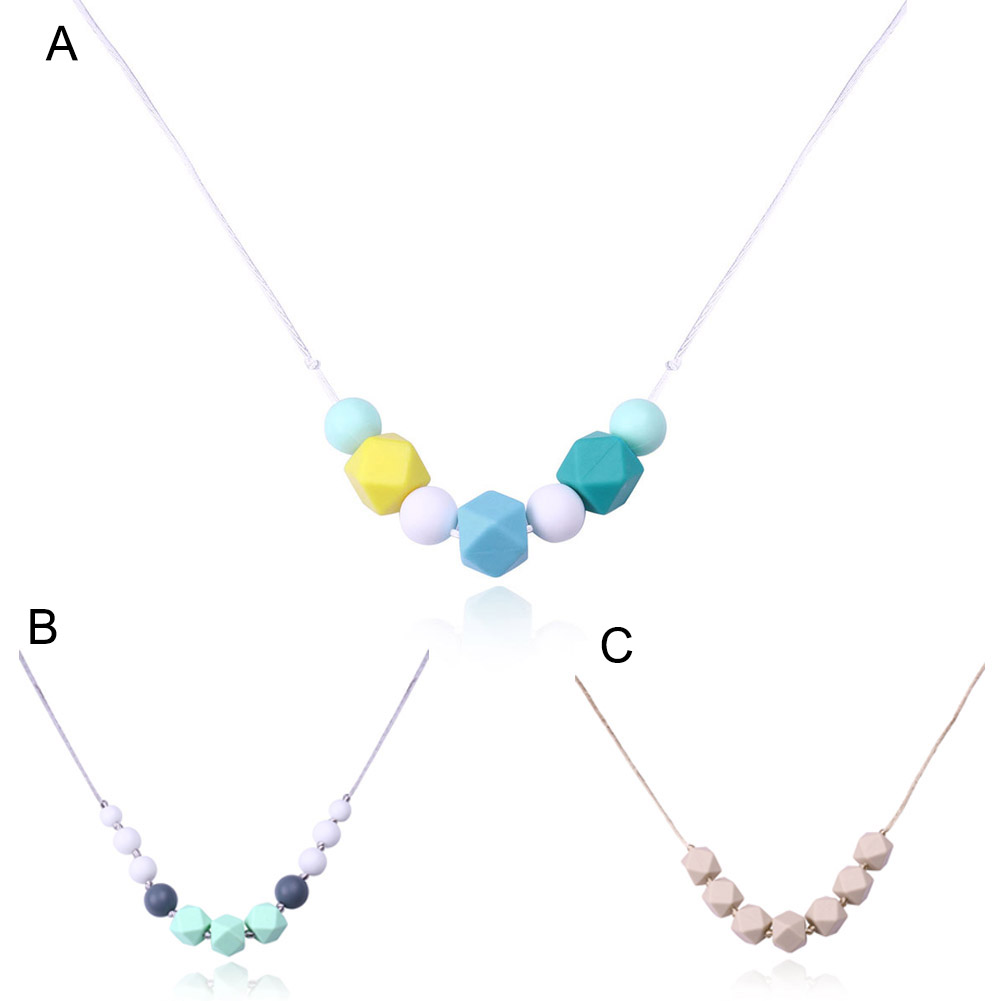 Simple Lady Silicone Beads Necklaces Decoration Clothing Chain Necklace Fashion Jewelry font b Accessories b font