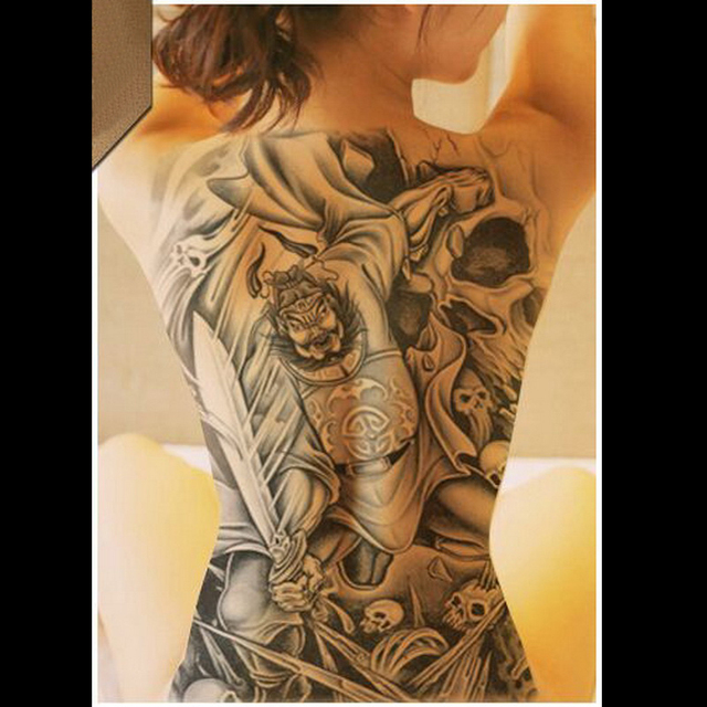 Sexy Dragon Lion God Waterproof Large Temporary Tattoo Stickers Men