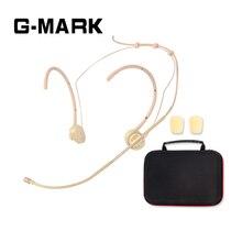 Casque professionnel de G MARK/Microphone porté par tête pour le système sans fil crochet doreille pliable avec la boîte demballage de pare brise