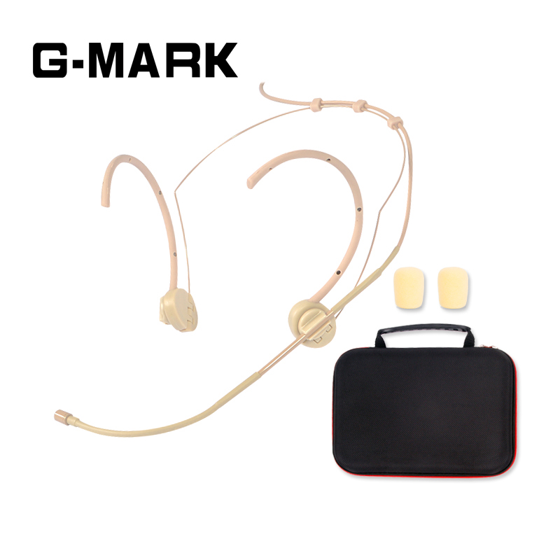G-MARK Professional Headset/Headworn Microphone for Wireless System Foldable earhook with Windscreen packing boxG-MARK Professional Headset/Headworn Microphone for Wireless System Foldable earhook with Windscreen packing box