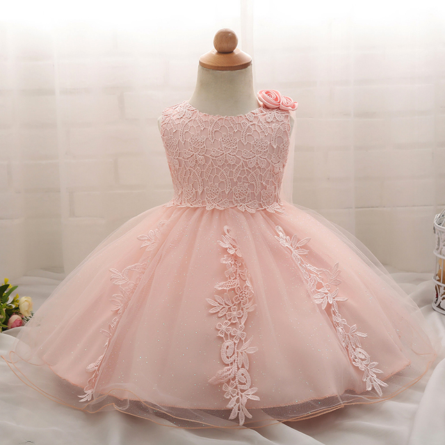d318ade54559 Baby Girl 1 Years Birthday Baptism Dress For Girl Party Frocks ...