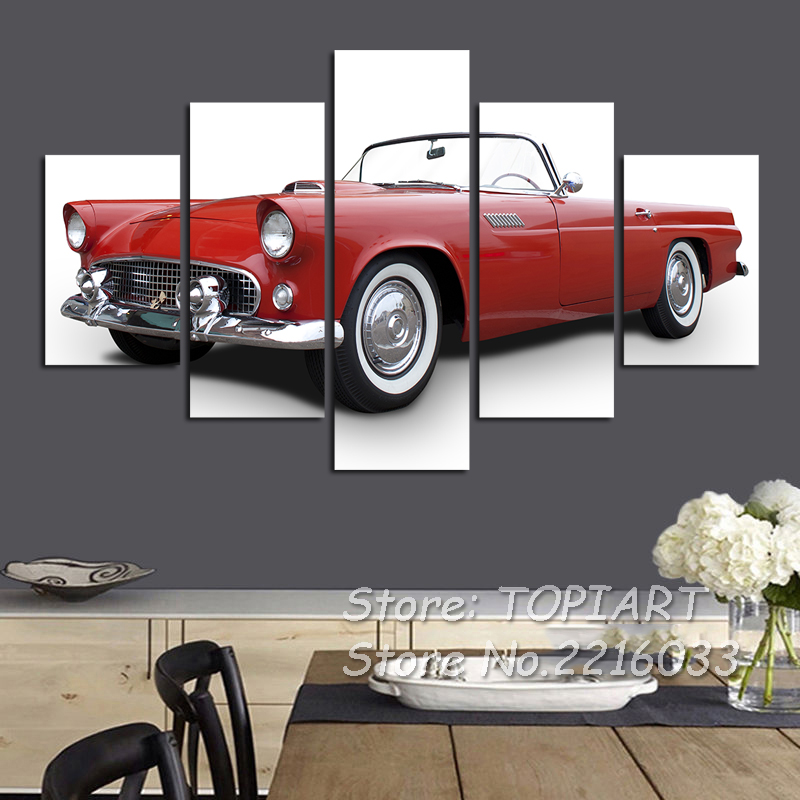Buy 5 pieces classic car print wall decor for Auto decoration shops in rawalpindi