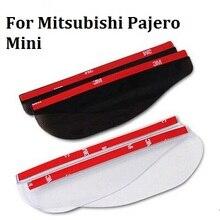 2017 car styling For Mitsubishi Pajero Mini special New Rearview mirror rain eyebrow The mirror rain shield car styling HOT