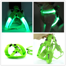 C01 solid pet dog LED light  harnesses belt luminous harness for medium large dogs