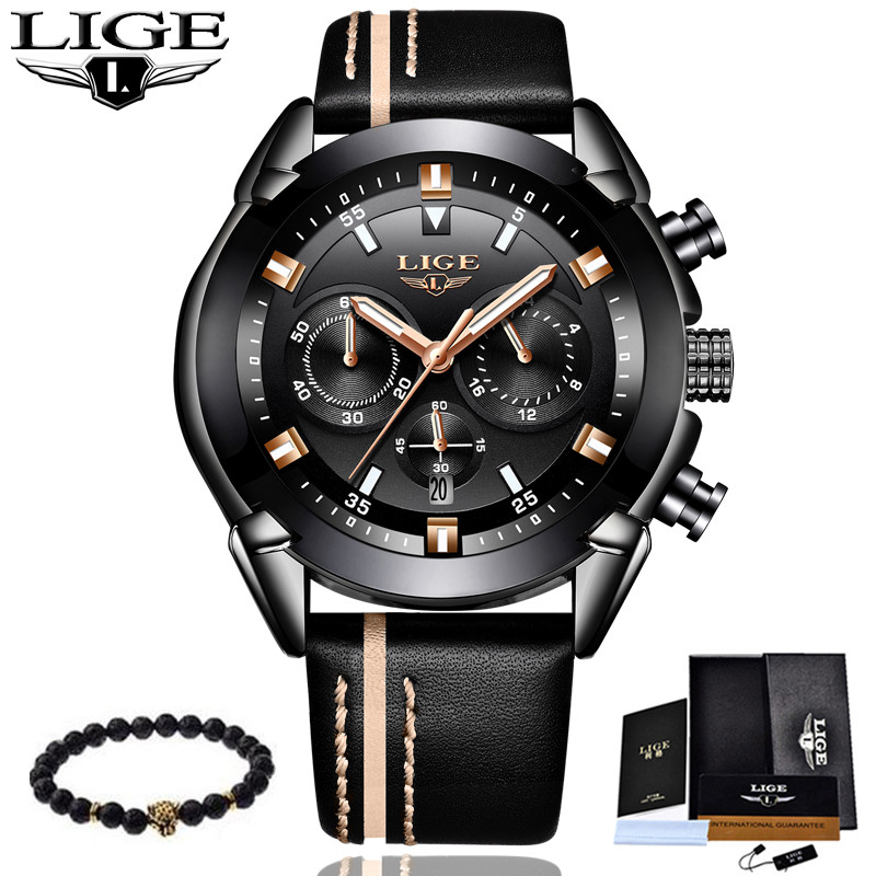Mens Watches LIGE Top Brand Luxury Mens Military Sports Watch Mens Multi-Functional Waterproof Quartz Watch Relogio MasculinoMens Watches LIGE Top Brand Luxury Mens Military Sports Watch Mens Multi-Functional Waterproof Quartz Watch Relogio Masculino