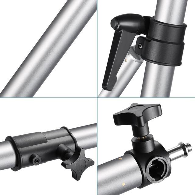 "Neewer Max Height 49""/125cm Wall Mounting Boom Arm for Photography Studio Video Lights/Monolights/Umbrellas/Reflectors"