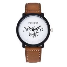 New Easy Lovers' Watch Quartz Clock PU Leather-based Timer Wristwatch for Girls Males Black Brown Mrs At all times Proper