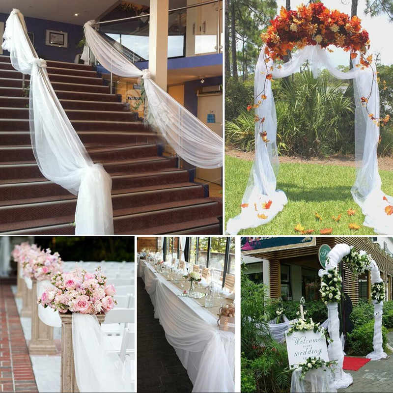 1Pcs 48CMX5M Tulle Roll Wedding Table Decoration Roll Fabric Spool Tutu Birthday Gift Wrap 5Z-SH015