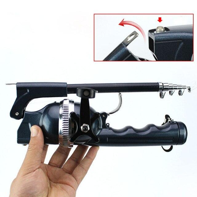 134CM télescopique Mini canne à pêche pliant pôle en fibre de verre bobine leurre canne à pêche