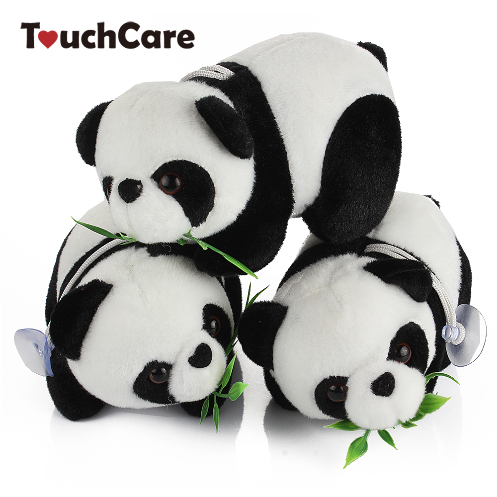 16CM Cute Cartoon Panda With Bamboo Baby Plush Toys Infant Soft Stuffed Animal Key Chain Plush Doll Toys Kids Gift Toy stuffed animal 120 cm cute love rabbit plush toy pink or purple floral love rabbit soft doll gift w2226