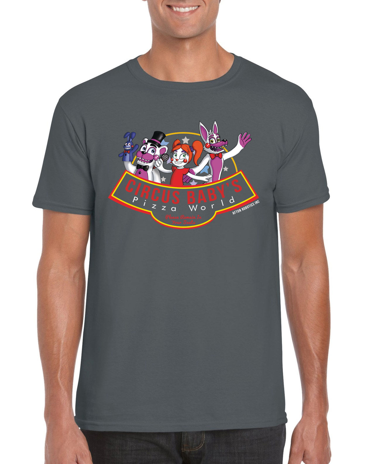 Circus Baby's Pizza World FNAF Sister Location Video Game Inspired T Shirt Gift Print T-shirt,Hip Hop Tee Shirt,NEW ARRIVAL tees