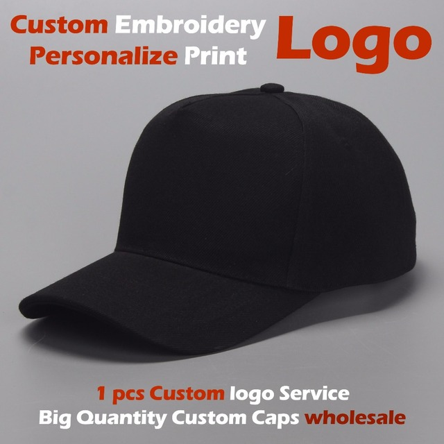 Wholesale Custom Baseball Cap Top Quality Dad Caps Personalized LOGO  Embroidery Hat 20 Colors Adjustable Adult Kids Child Gorras dd102681a06