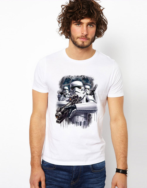 Star war T-shirts Stormtroopers Black and White