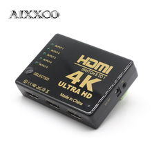 AIXXCO 4K*2K 5 to 1 Switch HDMI Hub Splitter TV Switcher Ultra HD IR Remote For HDTV PC