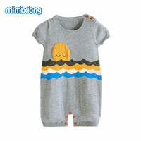 Summer Baby Girl Romper Fashion Knitting Pattern Newborn Boys Jumpsuits Casual Outwear Toddler Kids Onesie Short
