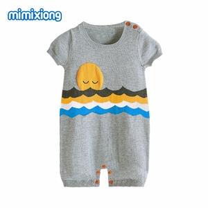 bec55724be7a mimixiong Baby Girl Romper Newborn Boys Jumpsuits Clothes