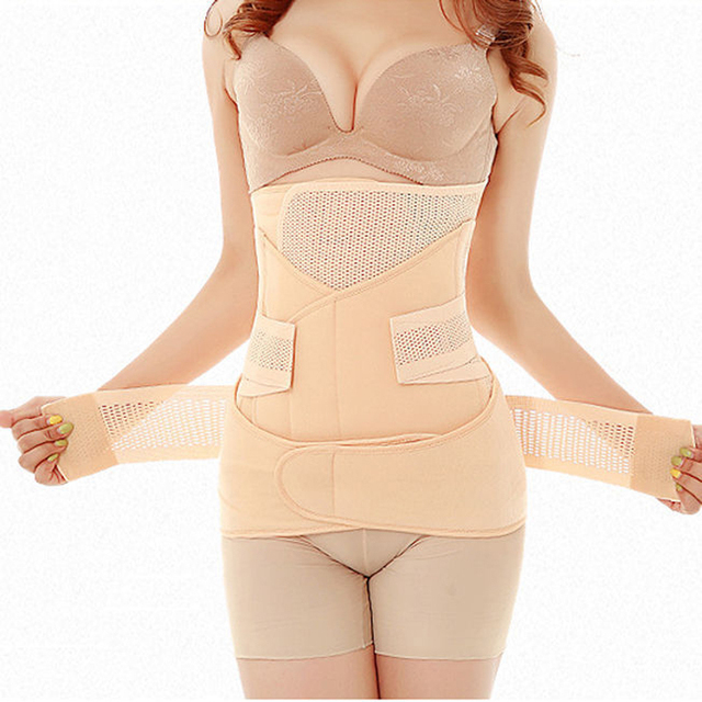 2016 Slim Waist Polyester Postpartum Abdominal Belt Recovery Belly/abdomen/pelvis Shapewear Breathable 3in1 Belly Special Offer