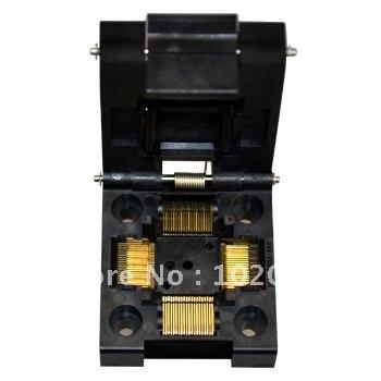 100% NEW IC51-0804 QFP80  TQFP80 0.5MM IC Test Socket / Programmer Adapter / Burn-in Socket(IC51-0804-808) 100% new sot23 sot23 6 sot23 6l ic test socket programmer adapter burn in socket