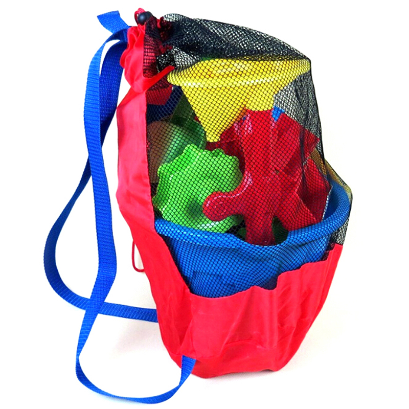 Summer 2018 Baby Sea Storage Mesh Bags Beach Sand Toys Water Fun Sports Bathroom Clothes Towels Backpacks Gift For Children Kids