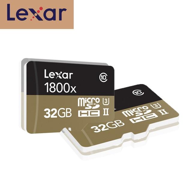 100% 원래 lexar 마이크로 sd 카드 1800x tf 플래시 메모리 카드 32 gb sdxc 270 메가바이트/초 카타오 드 memoria 클래스 10 u3 microsd 카트