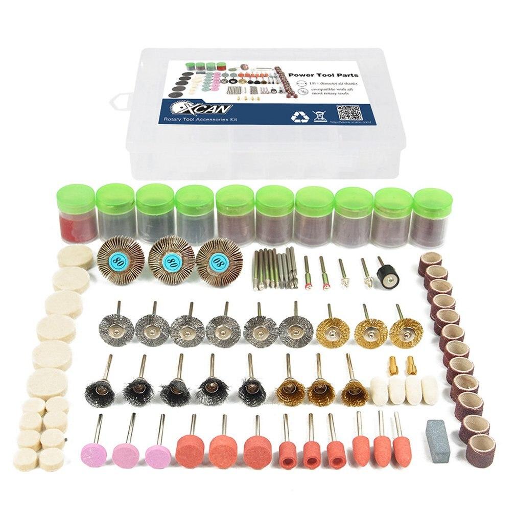 350pcs Rotary Power Tool Cutting Disc Mandrels Abrasive Stones Grinder Felt Wheels Polishing Drill Bits Kit Wood Work Tools