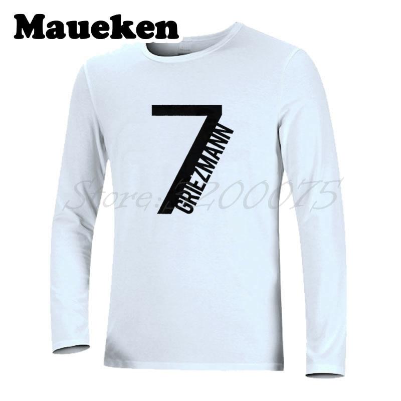 the best attitude efef8 31995 US $21.88 |Men Autumn Winter Antoine Griezmann #7 T shirt Atletico Star  France T Shirt Long Sleeve T SHIRT W1101105-in T-Shirts from Men's Clothing  on ...