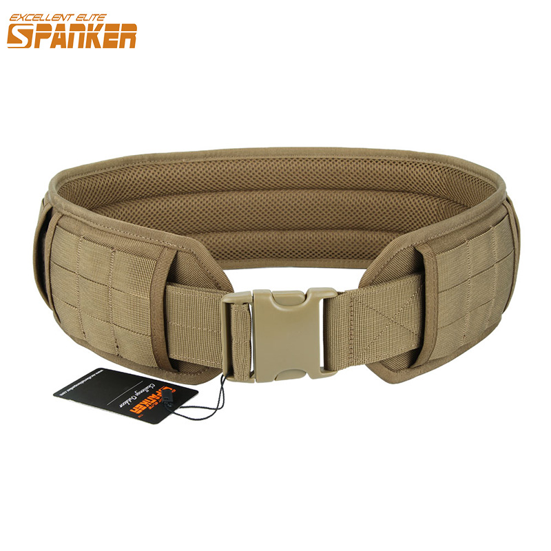 Excellent Elite Spanker Hunting Tactical Waist Belt With Removable Thicken Pad Belt Military Outdoor Utility  Accessories