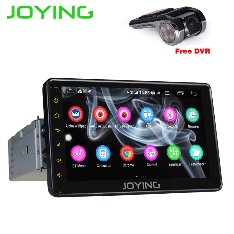 JOYING 4g RAM 32g ROM 1 din 7 Android 8.0 voiture radio stéréo GPS audio Octa core tête unité avec carplay volant avec DVR