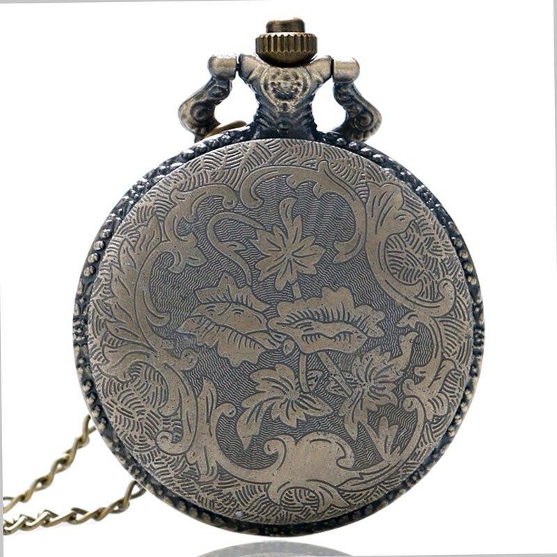 3D Kinesisk Dragon Bronze Quartz Pocket Watch Halskæde vedhæng ur - Lommeur - Foto 6