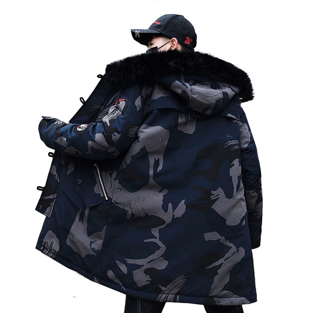 Best Price Fashion Winter New Fur Jacket Men Warm Coat Fashion Casual Parka Medium-Long Thickening Camouflage Coat Large Size M-4XL
