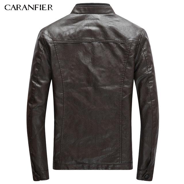 CARANFIER Mens PU Jackets Coats Motorcycle Biker Faux Leather Jacket Men Autumn Winter Clothes Male Classic Thick Velvet Coat 5
