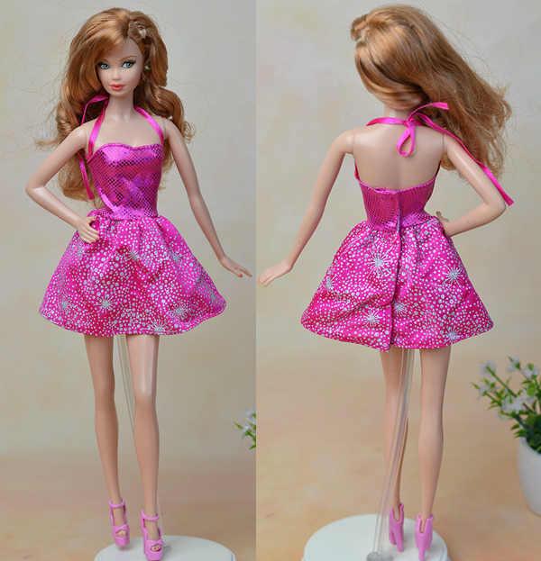 Куклы ручной работы, Одежда для куклы Барби, платье с цветами, вечерние платья, летние платья с короткими рукавами, платья для куклы Барби