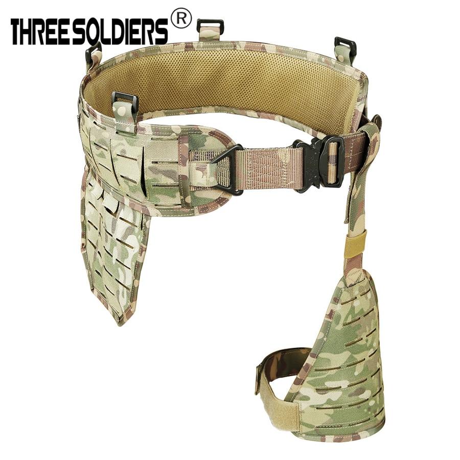 1000DNylon Tactical Molle Waist Belt Combat Removable Wide Waist Battle Belt Padded Belt  Suspender Belt With Leg Panel