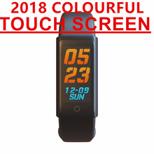 2018 colourful touch  smartband Blood Pressure Smart Wristband better than miband 2 for xiaomi for fitbit smart bracelet