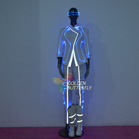 Glowing dust coat luminous Dress LED Costumes Fiber optic light clothing Performance suit Talent show hair light LED Clothing